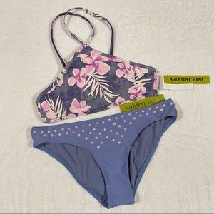 Gianni Bini Vintage Aloha Bikini Set